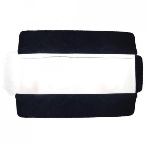 Rotolo per Bracciale 35 Anelli H25 X L80cm- Blu Interno Bianco