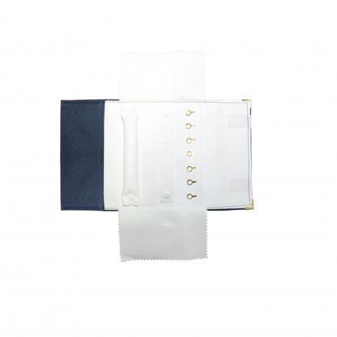 Rotolo Portagioie da Viaggio - H17XL30 cm Blu int. Bianco