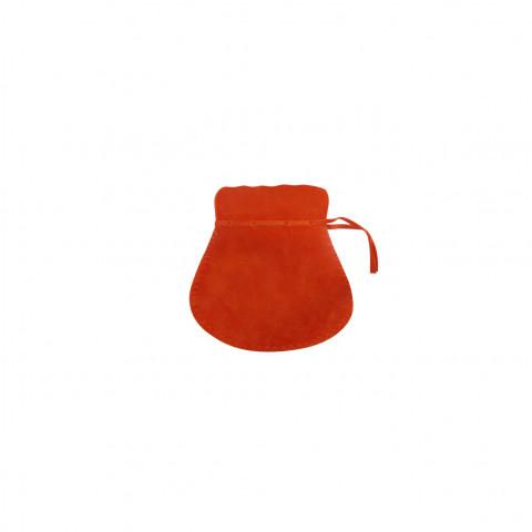 Sacchetto Alcantara 1° Mis. L4,5xH7,5xP6cm -12 pz Arancione