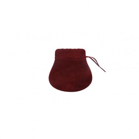Sacchetto Alcantara 1° Mis. L4,5xH7,5xP6cm -12 pz Bordeaux