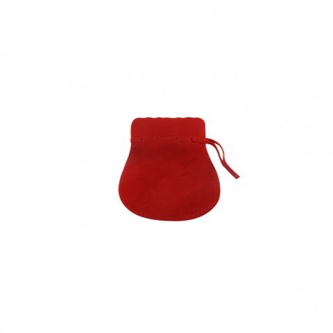 Sacchetto Alcantara 1° Mis. L4,5xH7,5xP6cm -12 pz Rosso