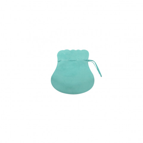 Sacchetto Alcantara 1° Mis. L4,5xH7,5xP6cm -12 pz Verde Tiffany