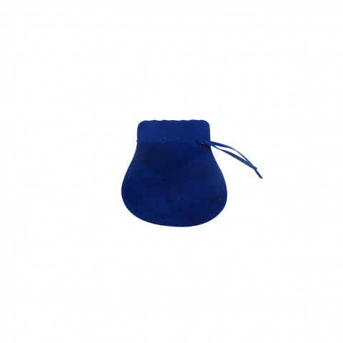 Sacchetto Alcantara 1° Mis. L4,5xH7,5xP6cm -12 pz Zaffiro