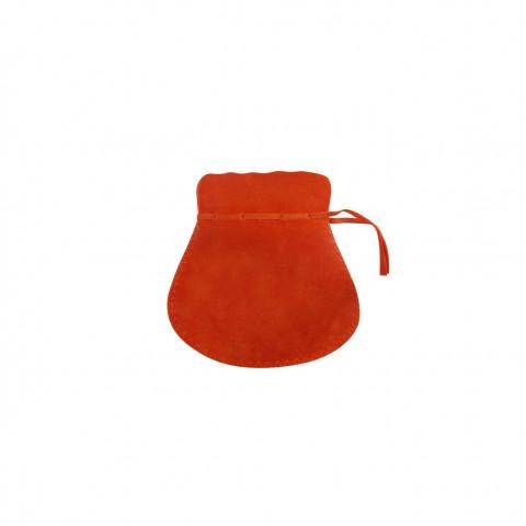Sacchetto Alcantara 2° Mis. L5,5xH9xP7cm-12 pz Arancione