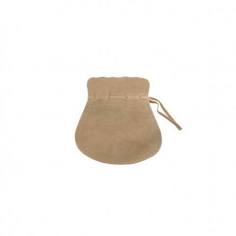 Sacchetto Alcantara 2° Mis. L5,5xH9xP7cm-12 pz Beige