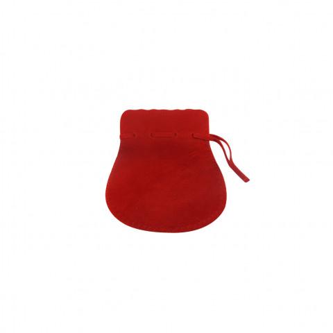 Sacchetto Alcantara 2° Mis. L5,5xH9xP7cm-12 pz Rosso