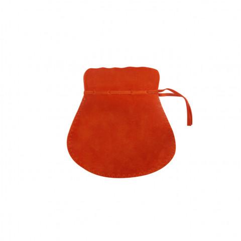 Sacchetto Alcantara 3° Mis L7xH11xP8,5cm-12 pz Arancione