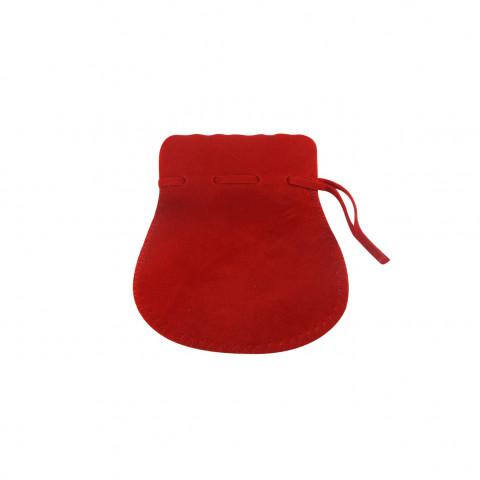 Sacchetto Alcantara 3° Mis L7xH11xP8,5cm-12 pz Rosso