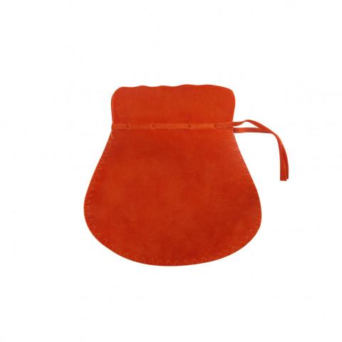 Sacchetto Alcantara 4° Mis. L8xH13xP9,5cm-12 pz Arancione