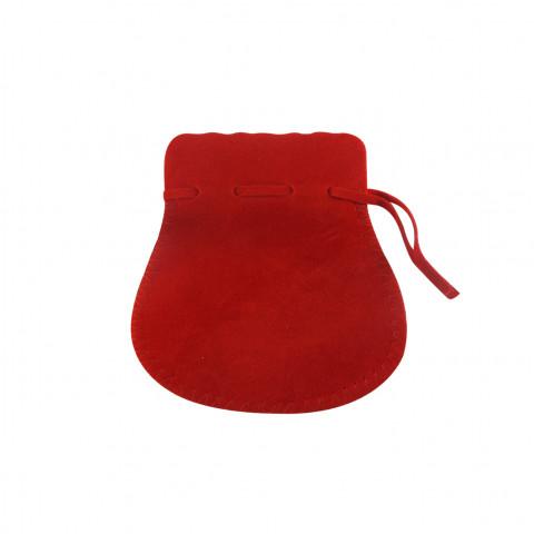 Sacchetto Alcantara 4° Mis. L8xH13xP9,5cm-12 pz Rosso
