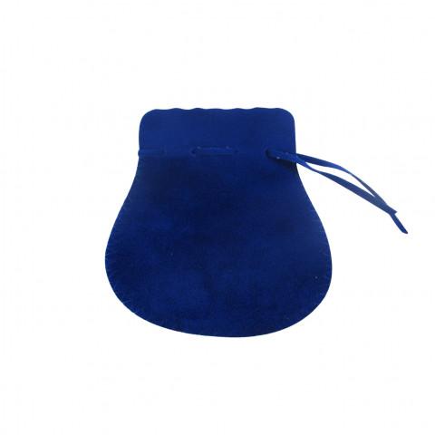 Sacchetto Alcantara 4° Mis. L8xH13xP9,5cm-12 pz Zaffiro
