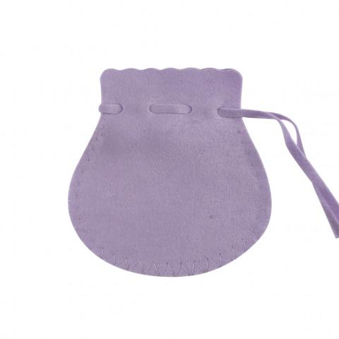 Sacchetto Alcantara 5° Mis. L10xH14xP9,5cm-12 pz Ametista Chiaro
