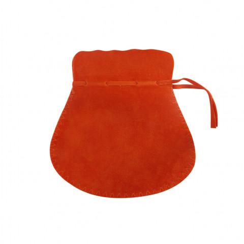 Sacchetto Alcantara 5° Mis. L10xH14xP9,5cm-12 pz Arancione