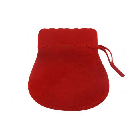 Sacchetto Alcantara 5° Mis. L10xH14xP9,5cm-12 pz Rosso