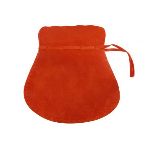 Sacchetto Alcantara 6° Mis. L11xH16,5xP12cm-12 pz Arancione