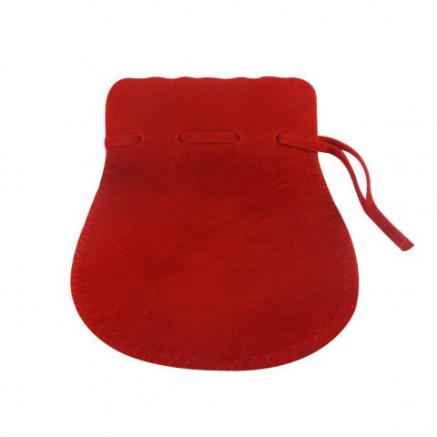 Sacchetto Alcantara 6° Mis. L11xH16,5xP12cm-12 pz Rosso