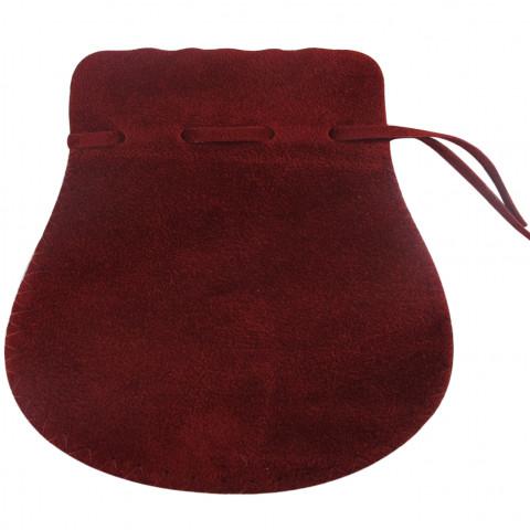 Sacchetto Alcantara 7° Mis. L15xH19,5xP15,5cm- 6pz Bordeaux