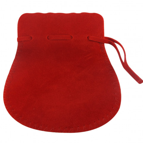 Sacchetto Alcantara 7° Mis. L15xH19,5xP15,5cm- 6pz Rosso