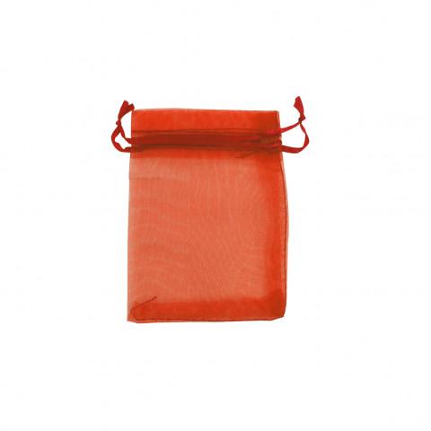 Sacchetto Organza Econom.1° Mis.L7xH9xP7 cm 100pz Arancione