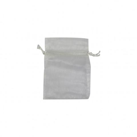 Sacchetto Organza Econom.1° Mis.L7xH9xP7 cm 100pz Bianco
