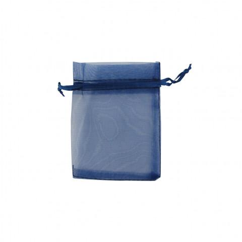 Sacchetto Organza Econom.1° Mis.L7xH9xP7 cm-100 pz Blu Scuro