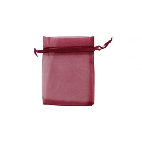 Sacchetto Organza Econom.1° Mis.L7xH9xP7 cm 100pz Bordeaux