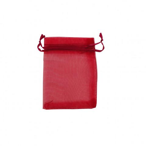 Sacchetto Organza Econom.1° Mis.L7xH9xP7 cm-100 pz Rosso