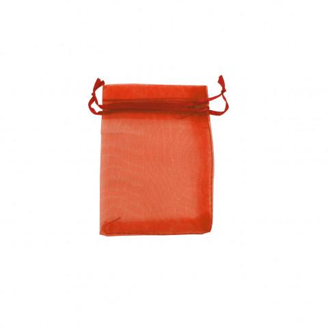 Sacchetto Organza Econom.2° Mis.L9xH12xP10 cm-100 pz Arancione