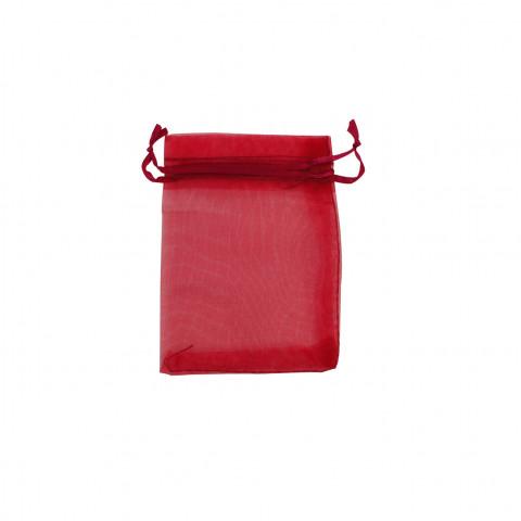 Sacchetto Organza Econom.2° Mis.L9xH12xP10 cm-100 pz Rosso