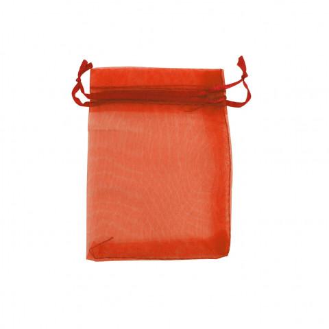 Sacchetto Organza Econom.3° Mis.L11xH16xP13 cm 100pz Arancione