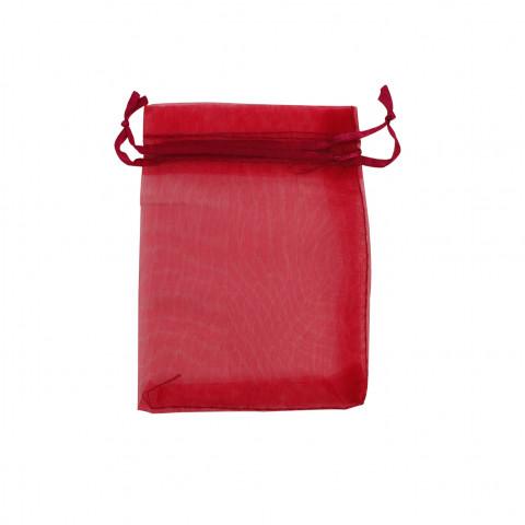 Sacchetto Organza Econom.3° Mis.L11xH16xP13 cm 100pz Rosso