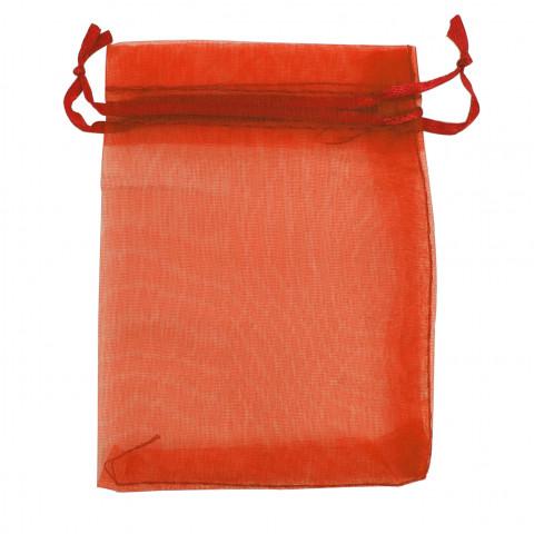Sacchetto Organza Econom.4° Mis.L15xH24xP21 cm-100 pz Arancione
