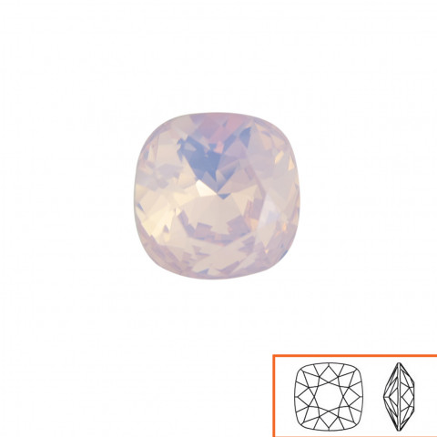 Square Swarovski (4470) 10 mm - 12 pz Rose Water Opal F