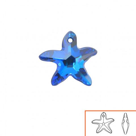 Stella Marina (6721) 16 mm - 8 pz Crystal Bermuda Blue P