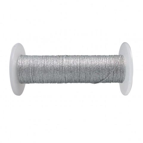 Treccia Lurex - ø 0,8 mm - 100 mt Argento