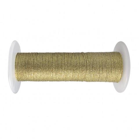 Treccia Lurex - ø 0,8 mm - 100 mt Oro