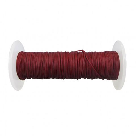 Treccia Semicerata - ø 0,8 mm - 100 mt Rosso Rubino