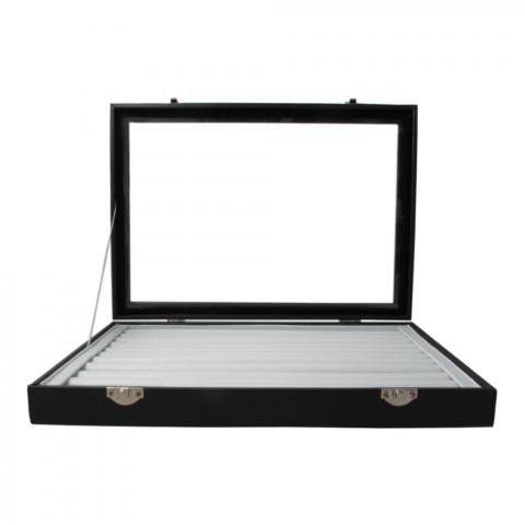 Vassoio Porta Anelli 10File con Coperchio L35xP24xH4,5cm 1pz int.Bianco