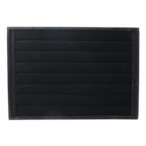 Vassoio Porta Anelli 8 File L35xP24xH3 cm-1pz Floc Nero